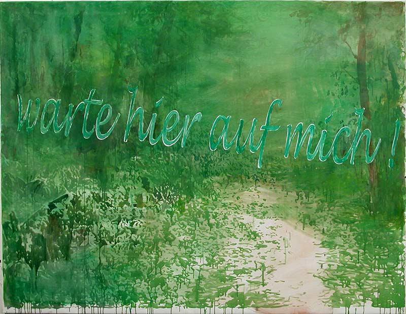 Warte / Wait, Öl auf Leinwand, 170 x 200 cm