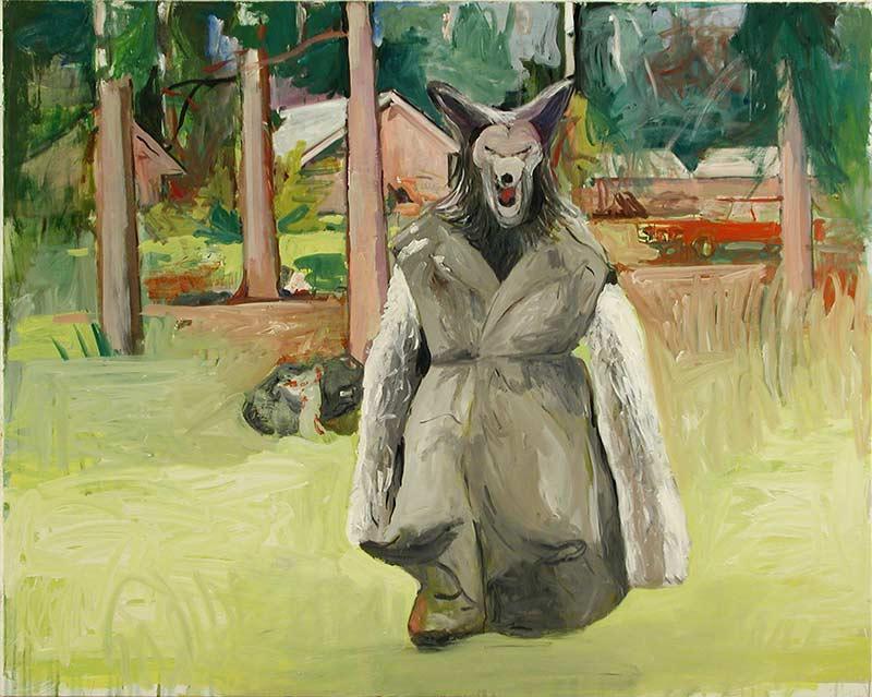 Werwolf, Öl auf Leinwand, 160 x 190 cm