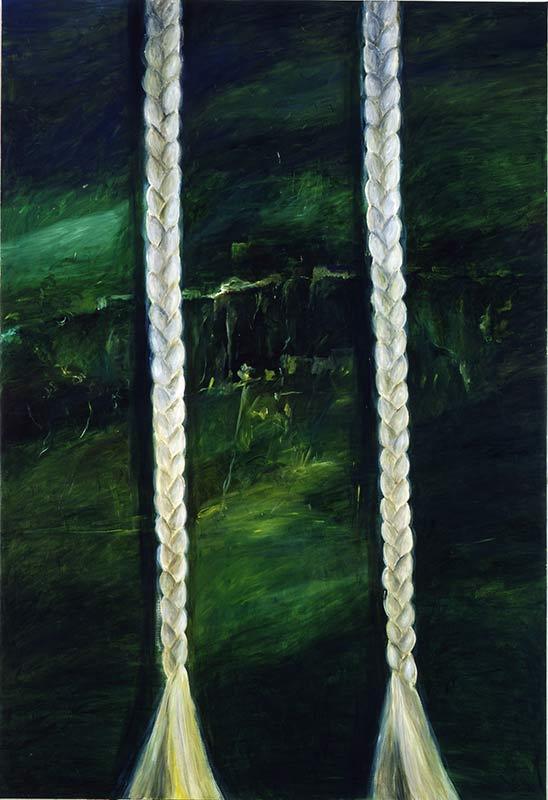 Zopfbild / Plait Picture, Öl auf Leinwand, 280 x 190 cm