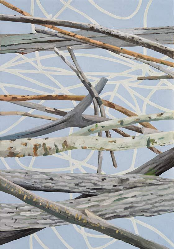 Barrier, Öl auf Leinwand, 200 x 140 cm