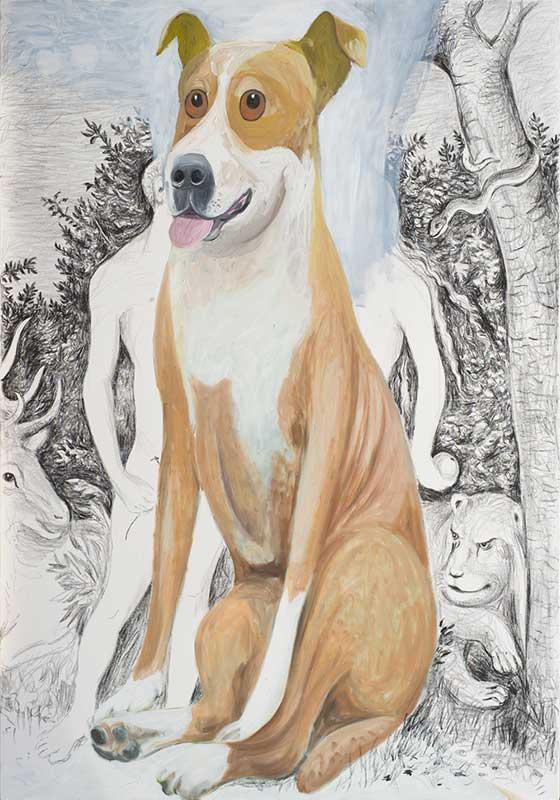 Cranach, Öl auf Leinwand, 200 x 140 cm