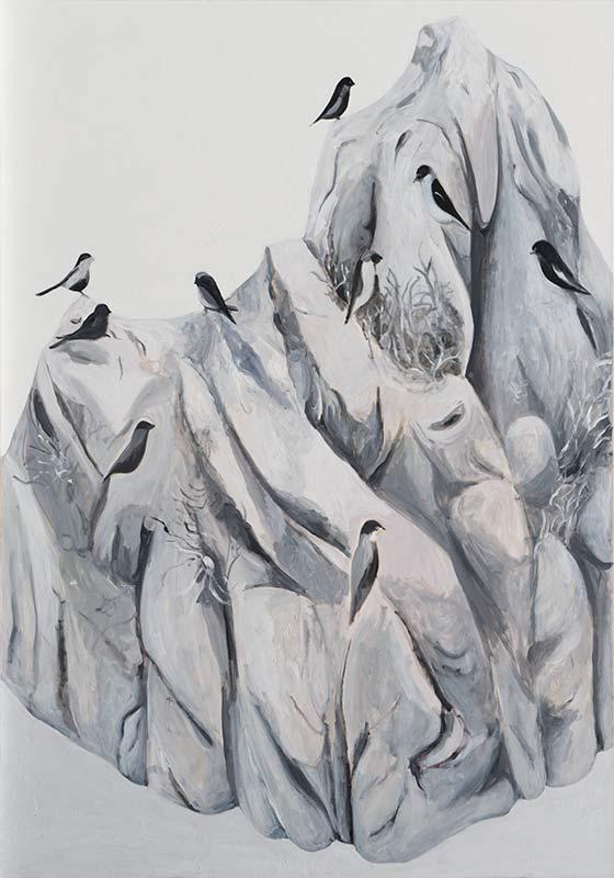The Birds, Öl auf Leinwand, 200 x 140 cm