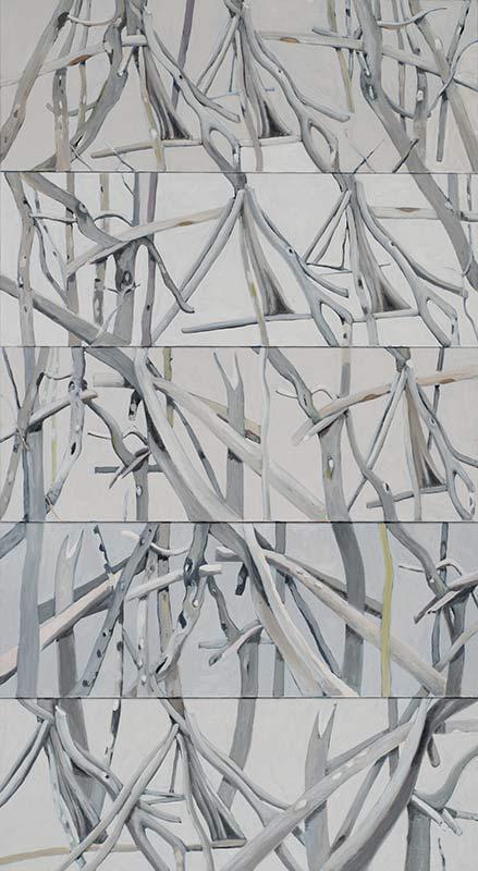 2014, Alois Mosbacher, Öl auf Leinwand, 200 x 110 cm