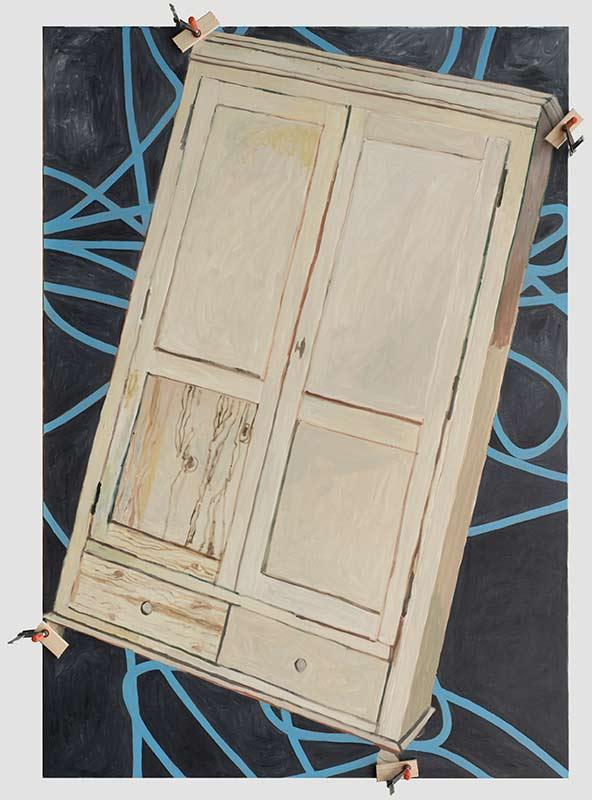 Cupboard, Öl auf Leinwand, 200 x 140 cm