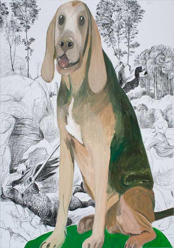 Raffael, Öl auf Leinwand, 200 x 140 cm