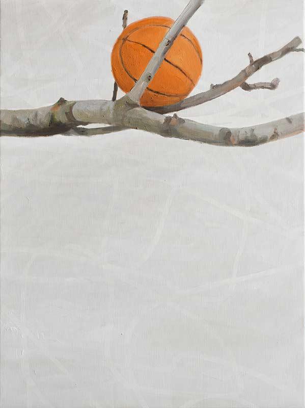 2014, Alois Mosbacher, Ball, Öl auf Leinwand, 80 x 60 cm