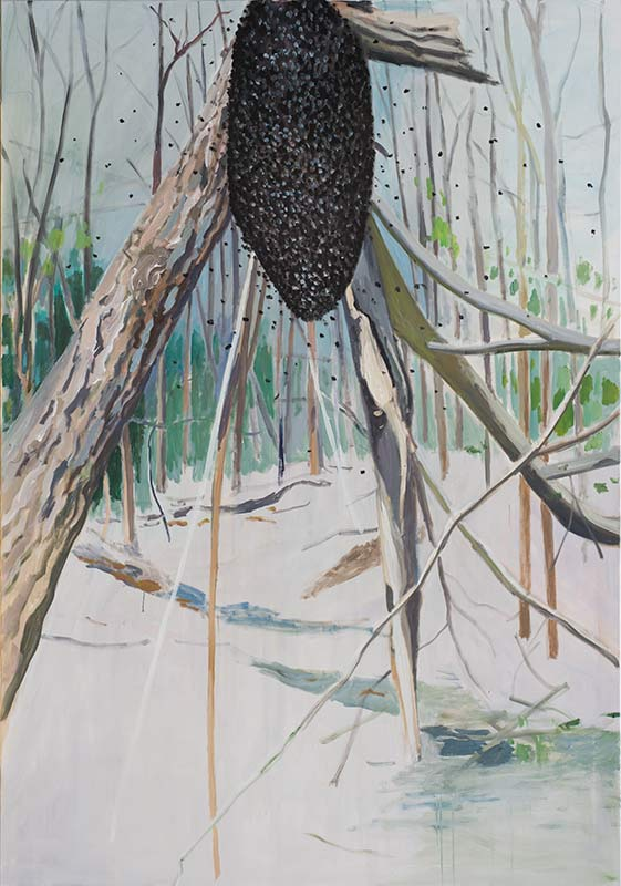 Swarm of Bees, Öl auf Leinwand, 200 x 140 cm