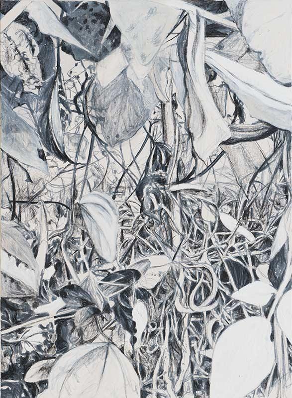 Garten 1 / Garden 1, Öl auf Leinwand, 150 x 110 cm