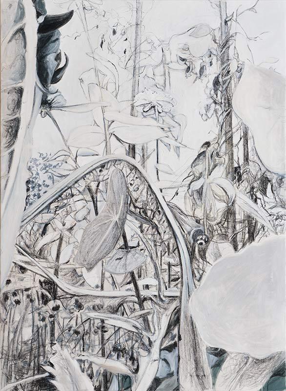Garten 4 / Garden 4, Öl auf Leinwand, 150 x 110 cm