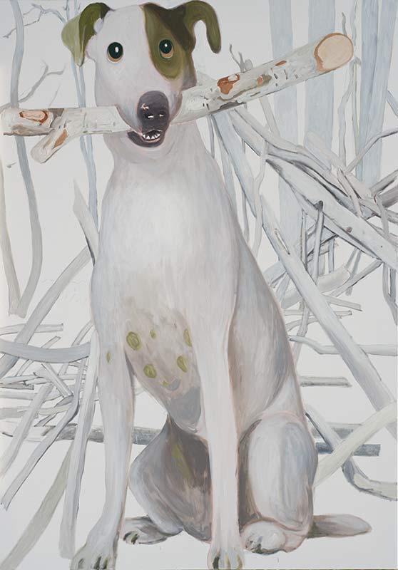 Dog, Öl auf Leinwand, 200 x 140 cm