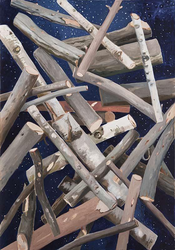 Satellite, Öl auf Leinwand, 200 x 140 cm