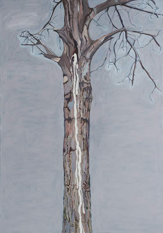 Spitting Tree, Öl auf Leinwand, 200 x 140 cm