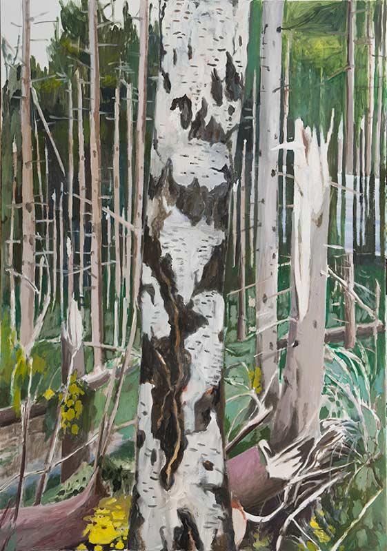 Storm, Öl auf Leinwand, 200 x 140 cm