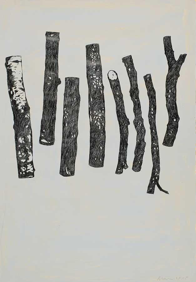 2015, Mischtechnik auf Papier, 100 x 70 cm
