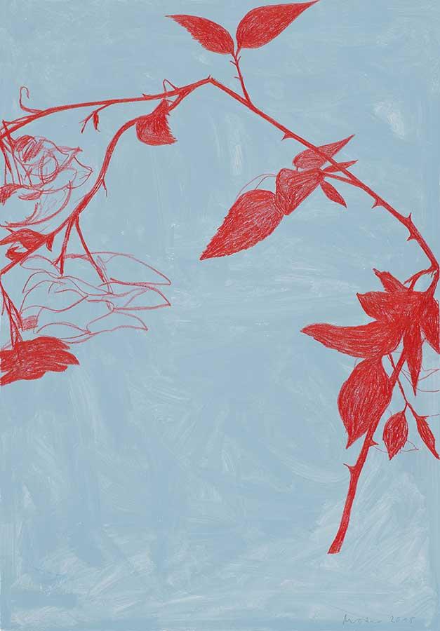 Rose, Mischtechnik auf Papier, 100x70cm
