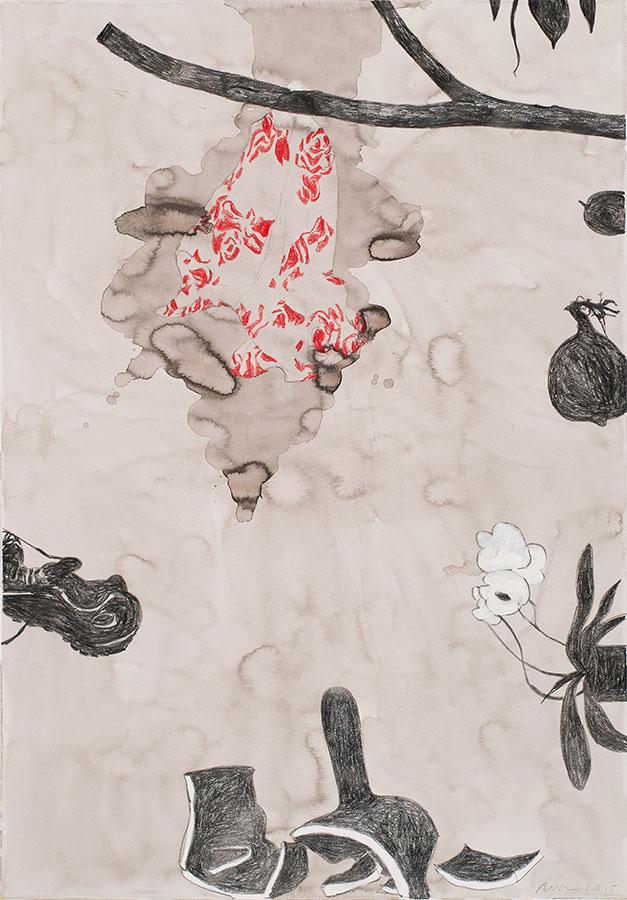 Mischtechnik auf Papier, 150 x 110 cm