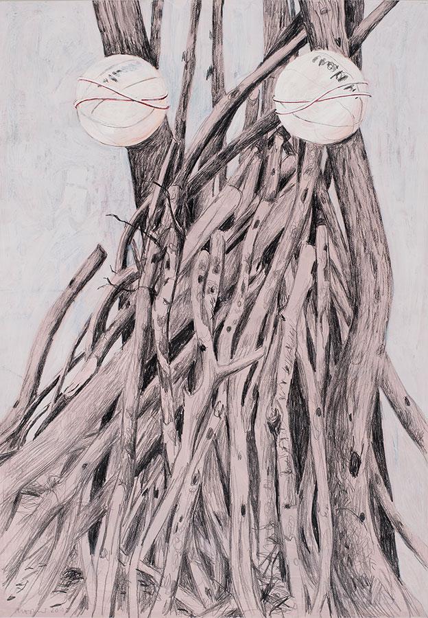 2015, Mischtechnik auf Papier, 150 x 110 cm