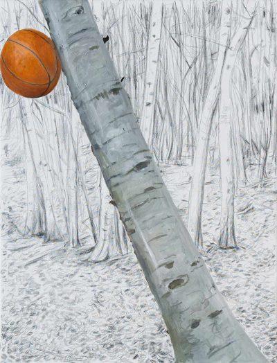 Ball 2, 2017, Öl auf Leinwand, 170 x 130 cm