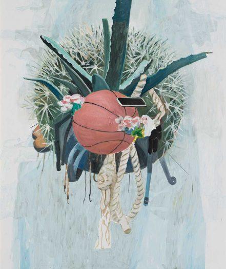 Slam Dunk 2, 2017 Öl auf Leinwand, 190 x 160 cm