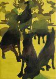 Alois Mosbacher, Gelber Morgen, Öl auf Leinwand, 120 x 85 cm, 2018