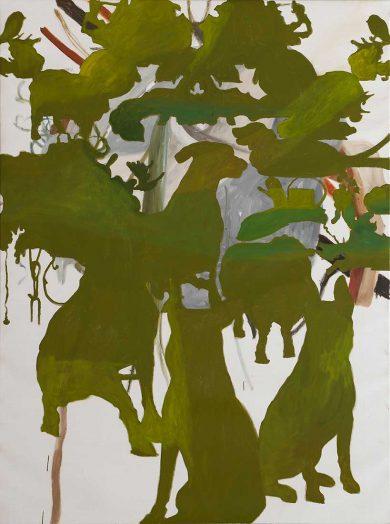 Grüner Morgen 2018, Öl auf Leinwand, 160 x 120 cm