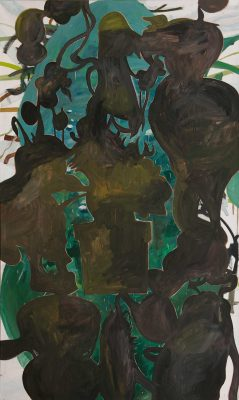 Ensemble, 2019, Öl auf Leinwand, 240 x 140 cm