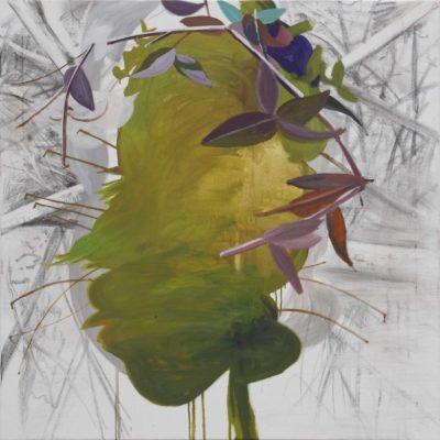 Lauri 2019, Öl und Kohle auf Leinwand, 110 x 110 cm