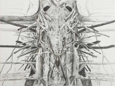 Bodo 2020, Kreide auf Leinwand, 150 x 200 cm