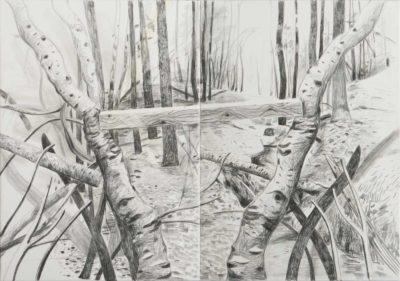 Fella 2020, Kreide auf Leinwand, 140 x 200 cm