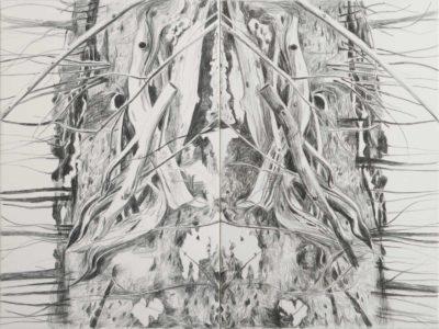 Ronk 2020, Kreide auf Leinwand, 150 x 200 cm